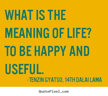 Quotes About Life What Is The Meaning Of Life To Be Happy And Useful
